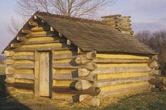 La vivienda militar para los soldados lleva por George Washington durante la revolución americana en la fragua del valle, PA imagen de archivo libre de regalías