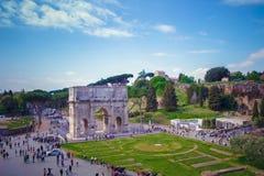 La voûte de Constantine, Arco di Costantino - voûte triomphale à Rome photo libre de droits