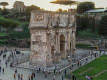 La voûte de Constantine a regardé du Colosseum, Rome, Italie Photo libre de droits