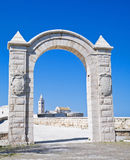 La voûte du fort. Trani. Apulia. Photo stock