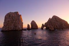 La voûte et Land's End, Cabo San Lucas, Mexique Images libres de droits