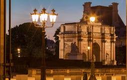 La voûte triomphale du carrousel, Paris, France Images libres de droits