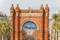 La voûte de Triumph à Barcelone, Espagne. Photographie stock