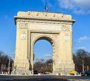 La voûte de Triumph Arcul de Triumf de Bucarest Roumanie Photo libre de droits