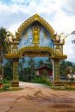 La voûte du temple de Wat Samret Image libre de droits