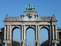 La voûte triomphale à Bruxelles Photos stock