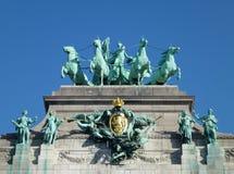 La voûte triomphale à Bruxelles Images libres de droits