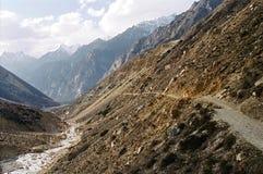 La voie à la source de Ganges, #1 images libres de droits