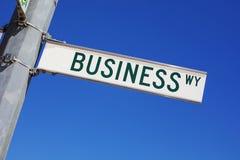 La voie d'affaires Image stock