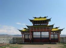 La voie de base d'un monastère bouddhiste Photographie stock libre de droits