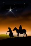 La voie de Noël Image libre de droits