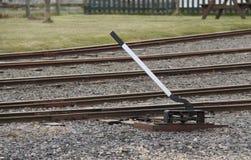 La voie de train dirige le levier. images libres de droits