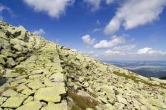 La voie en pierre Images stock