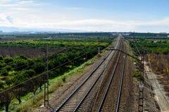 La voie expédient le chemin de fer Photos stock