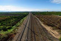 La voie expédient le chemin de fer Photographie stock