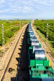La voie expédient le chemin de fer Photos libres de droits