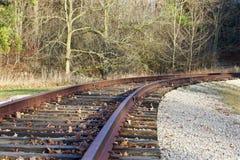 La voie ferrée dans la forêt Images libres de droits