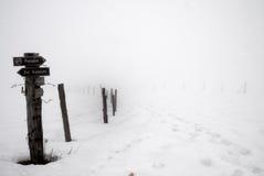 La voie signent en l'hiver no.1 Photo stock