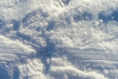 La voie sur la neige glacée Images libres de droits