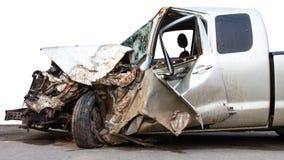 La voiture a été démolie photographie stock libre de droits