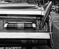 La voiture arrière Lincoln Premier Coupe Custom Showcar 1960 des feux de freinage Image libre de droits