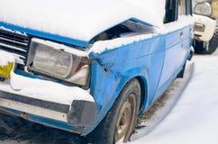 La voiture cassée. Image libre de droits