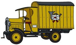 La voiture de courrier de cru illustration de vecteur