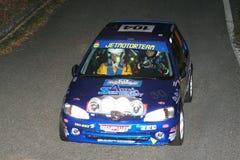 La voiture de course de Peugeot 106 Photographie stock