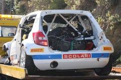 La voiture de Robert Kubica images libres de droits