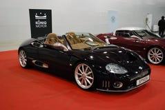 La voiture de sport d'une classe de la meilleure qualité Maserati Spyder dans l'expo 2012 de crocus moscou Image stock