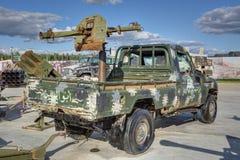 La voiture des terroristes photographie stock libre de droits