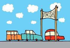 Finition de course de voiture illustration stock