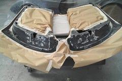 La voiture partie prêt pour le procédé de peinture Photo stock