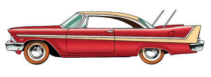 La voiture Plymouth illustration libre de droits