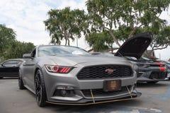 La voiture am?ricaine Ford Mustang de muscle a exhib? ? l'?v?nement de visite Torqued images libres de droits
