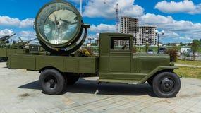 La voiture soviétique militaire des périodes de la deuxième guerre mondiale Photo stock