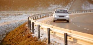 La voiture sur la route Image stock
