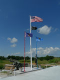 La volata e Canon delle bandiere visualizzano alla posta 4518, Sallisaw, APPROVAZIONE di VFW Fotografia Stock Libera da Diritti
