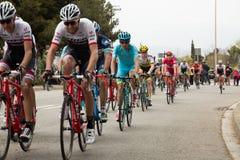 La volta a catalunya 2016 cyclists Stock Images