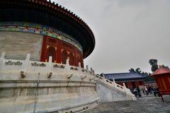 La volta di cielo imperiale Il tempio del cielo Pechino La Cina Immagini Stock Libere da Diritti