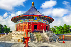 La volta di cielo imperiale nel tempio del cielo complesso dentro Immagini Stock