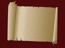 La voluta de papel muestra pasado de moda y límite libre illustration