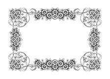 La voluta victoriana barroca del ornamento floral del monograma de la frontera del marco del vintage grabó el vector caligráfico  stock de ilustración