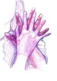 La vostra mano in mia mano Immagine Stock Libera da Diritti