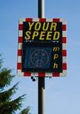La vostra velocità: fronte infelice. Fotografie Stock