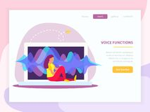 La voz funciona página de aterrizaje libre illustration