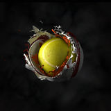 La vraie boule a placé 4 Image stock