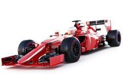 La vue à angles de voiture et de conducteur de course sur un blanc a isolé le fond illustration de vecteur