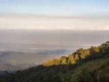 La vue élevée de montagne Photo libre de droits