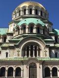 La vue étroite de la cathédrale de Sofia a consacré au saint Alexander Nevsky Photos stock